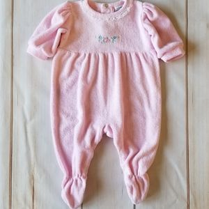 Rumble Tumble VTG Pink Terry & Lace Sleeper/Jumper